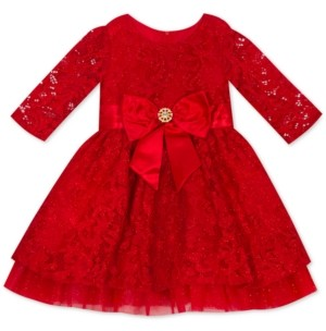 Rare Editions Baby Girls Red Lace Dress