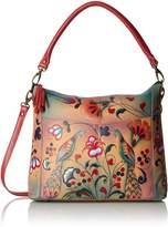 Anuschka Handpainted Leather Convertible Shoulder Bag, Turkish Pottery