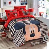 Ikeelife® Ikeelife Soft Polyester Cartoon 3D Print Bedding Set 4pcs,Durable,Queen Size , 1*duvet cover,2*pillowcases,1*bed sheet