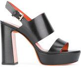 Santoni block panel platform sandals - women - Leather - 37.5