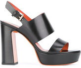 Santoni block panel platform sandals