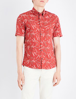 Michael Kors Bamboo-print cotton shirt