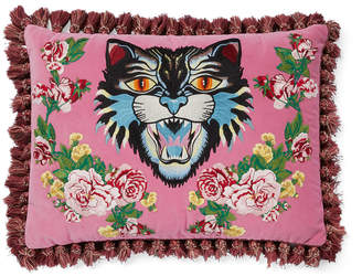 Gucci Angry Cat Tassel Cushion