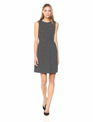 Anne Klein Women's Jacquard Vertical Seamed FIT and Flare