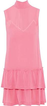 RED Valentino Pussy-bow Tiered Silk-blend Georgette Mini Dress