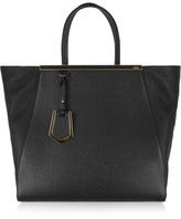 Fendi 2jours Large Textured-leather Shopper - Black