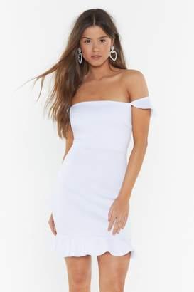 Nasty Gal Womens No Ties Ruffle Mini Dress - white - 14