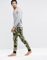 Asos Loungewear Skinny Joggers In Camo