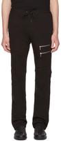Versace Black Multi-zipper Lounge Pants