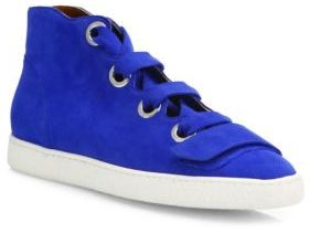 Derek Lam Serena Suede High-Top Sneakers