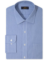 Club Room Men's Classic-Fit Non-Iron Blue Micro-Stripe Dress Shirt, Only at Macy's