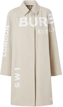 Burberry Logo Print Car Coat