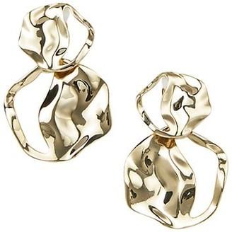 Lafayette 148 New York 2-Piece Wavy Double Drop Clip-On Earrings