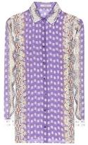 Etro Printed Silk And Cotton Shirt