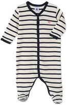 Petit Bateau Baby boys striped sleepsuit