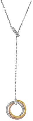 Effy Trio 14K Multi-Tone Gold and Diamonds Necklace