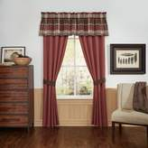 Croscill Kent Window Valance in Red/Brown