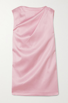 GAUGE81 Cali Draped Satin Mini Dress - Pastel pink