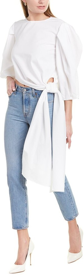 Carolina Herrera Puff Sleeve Top