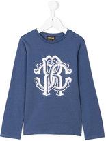 Roberto Cavalli long sleeve branded T-shirt