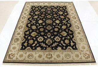 "One-of-a-Kind Broncho Floral Hand-Knotted 8' x 10'6"" Wool Black Area Rug Isabelline"