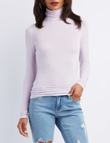 Charlotte Russe Turtle Neck Fitted Top