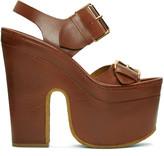 Stella McCartney Brown Platform Buckles Sandals