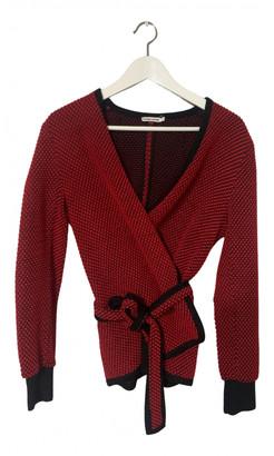 Non Signé / Unsigned Non Signe / Unsigned Kimono Red Wool Knitwear