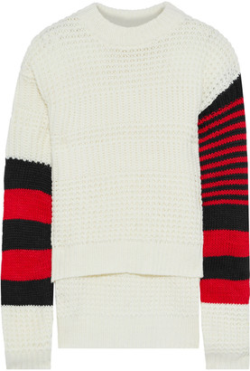 Preen Line Nara Striped Ribbed And Open-knit Sweater