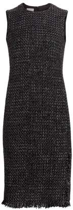 Akris Punto Sleeveless Tweed Sheath Dress