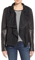 Vince Camuto Leather & Suede Hooded Jacket