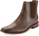 Cole Haan Giraldo Chelsea Brogue Leather Boot, Chestnut