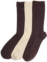 Lauren Ralph Lauren Women's Ribbed Cotton Trouser 3 Pack Socks