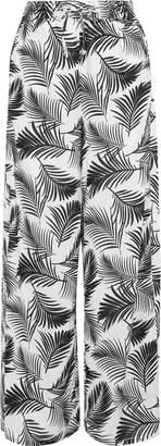 Onia Chloe Printed Poplin Wide-leg Pants