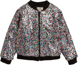 Peek Aren't You Curious Nina Sequin Zip Jacket