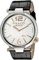 Mulco Men's MW5-3183-021 Couture Slim Analog Display Swiss Quartz Black Watch