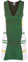 M Missoni Ribbed-knit cotton-blend mini dress