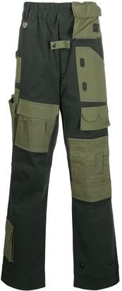 Xander Zhou Colour-Block Straight Trousers