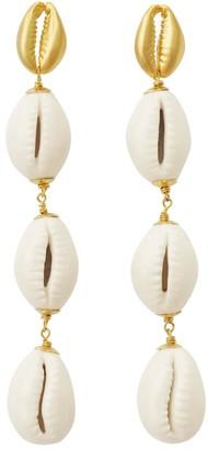 Poporcelain Porcelain Cowrie Shell Linear Earrings