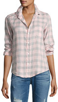 Frank And Eileen Barry Large Check Shirt, Pink/Gray