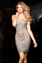 Scala 48736 Sweetheart Beaded Cocktail Dress