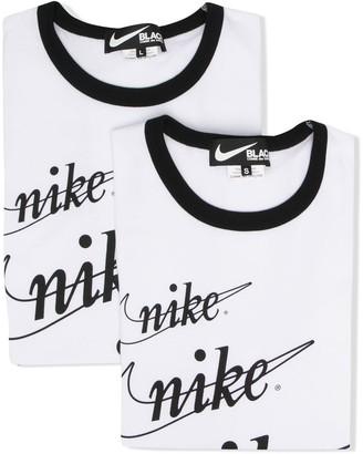 Black Comme Des Garçons x Nike print T-shirt