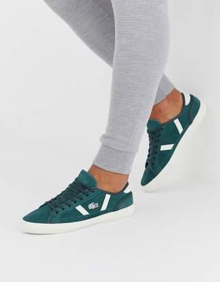 Lacoste Sideline trainers in dark green suede