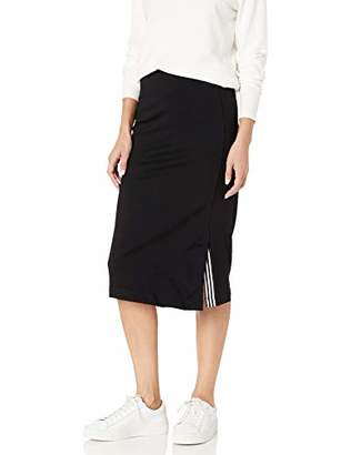 Armani Exchange A|X Women's Jersey Knit Long Tapered Pencil Skirt with Slit at Hem