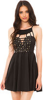 Reverse The Stud Cut Out Dress