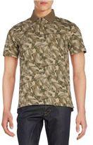 Victorinox Abstract Camo-Print Polo Shirt