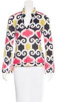 Tory Burch Sheer Geo-Print Tunic