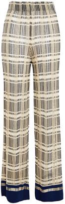 M Missoni Crochet-knit Cotton-blend Wide-leg Pants