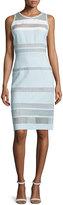 J. Mendel Sleeveless Banded-Lace Dress, Mint