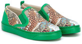 Gucci Kids - GG Supreme Tiger sneakers - kids - Calf Leather/Polyurethane/Leather/rubber - 20